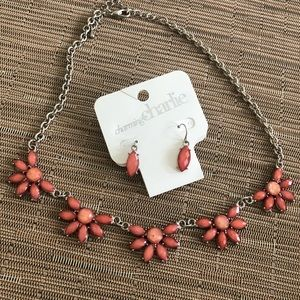 Charming Charlie Pink Earring/Necklace Set